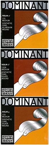 Dominant ドミナント 4 4バイオリン弦 A.D.G線セット(D線シルバー巻)