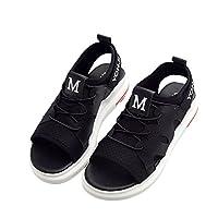 (チェリーレッド) CherryRed レディース サンダル 女性 靴 フラットサンダル 運動靴 歩く安い 40 ブラック