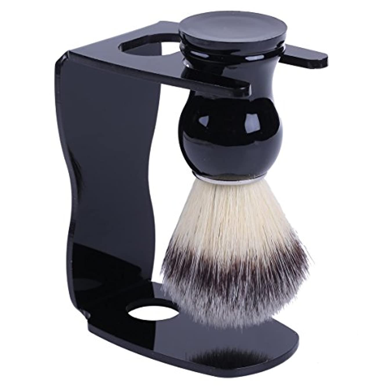 品残り物接辞泡立ちが違う アナグマ 毛100% スタンド付き シェービング ブラシ /髭剃り 洗顔 理容 マッサージ 美容 効果