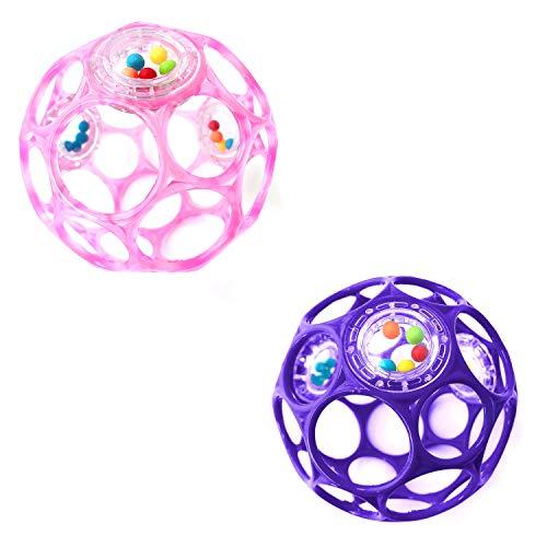 O'ball オーボール ラトル ベビーピンク (11484) by Kids II