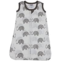Bacati Elephants Wearable Blanket Grey Medium [並行輸入品]
