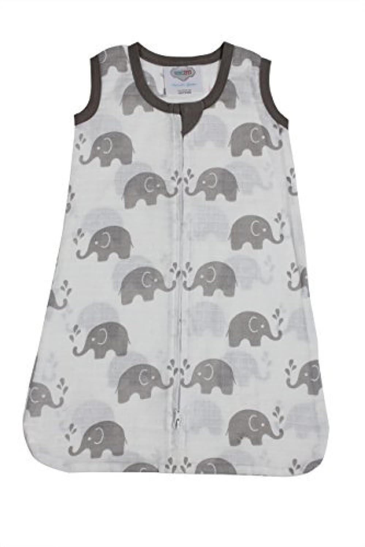 Bacati Elephants Wearable Blanket Grey Medium [並行輸入品]