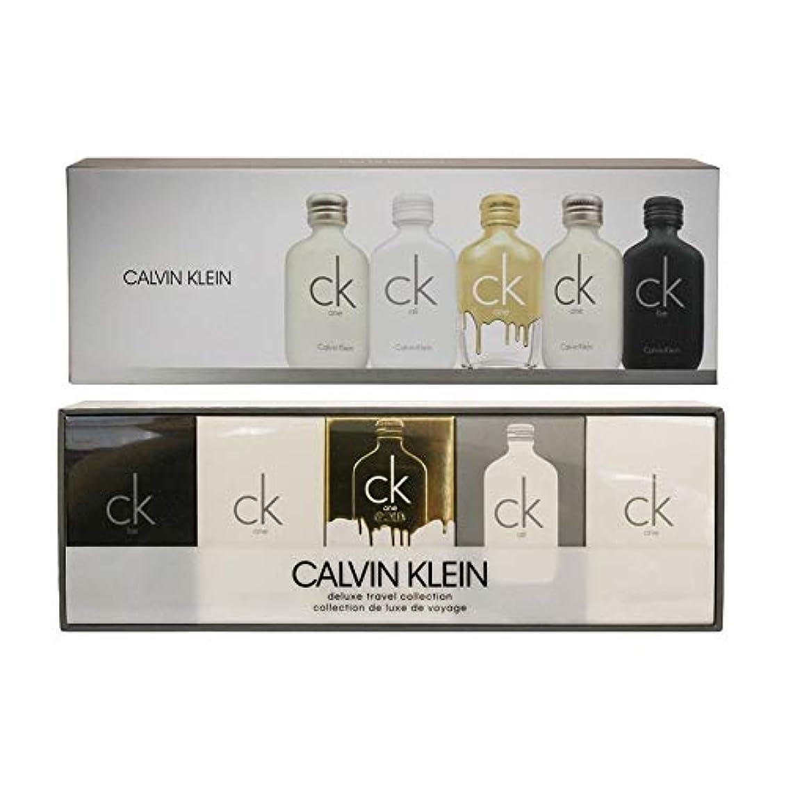 いじめっ子を除く津波カルバン クライン CALVIN KLEIN ck シーケー デラックス トラベル コレクション ミニチュア ギフトセット 10ml×5本