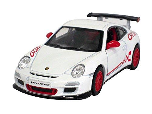 KiNSMART 1:36 ポルシェ 911 GT3 RS ホワイト ウィンドウボックス 200-524