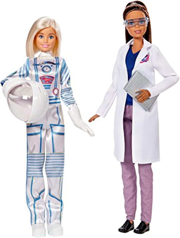 バービー 宇宙飛行士&宇宙科学者 Astronaut & Space Scientist 高身長 サイエンティスト ドール 人形 2体セット