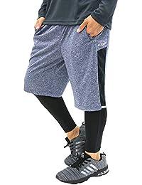 [ケイパ] ランニングウェア ジャージ ハーフパンツ スポーツインナー タイツ セット メンズ
