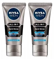 Nivea Men All In 1 Face Wash 100 gm - 2 pk (Ship from India)