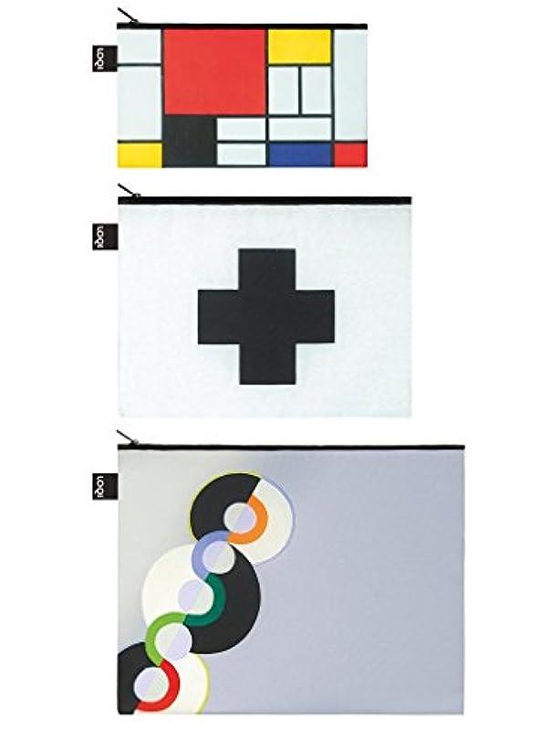 貧しい乱雑なハングLOQI(ローキー) ジップポーチセット(3個セット) Museumコレクション(ZP.MU.MO)