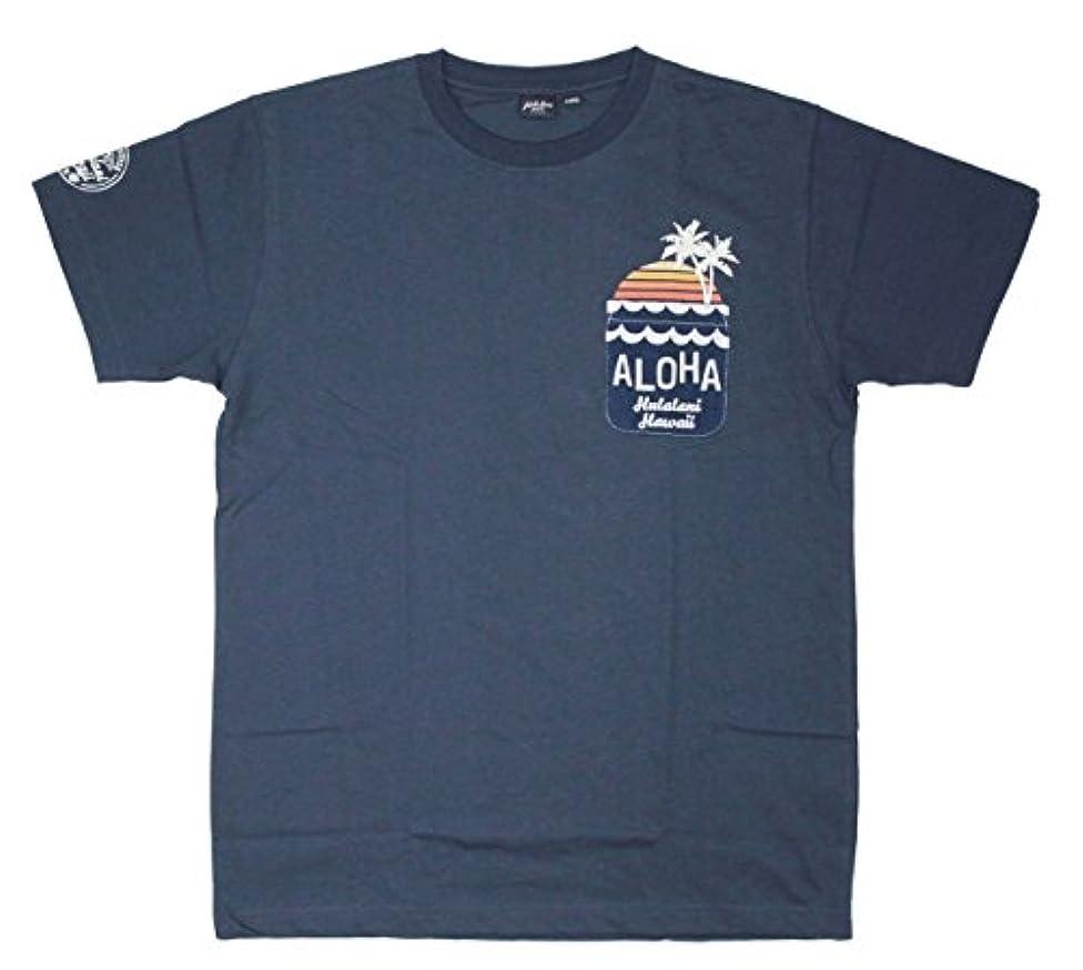 読む病者擬人化フララニ Hula Lani メンズ 半袖 Tシャツ (メンズ/ネイビー) HU107015NVY ハワイアン雑貨 ハワイ 雑貨 サーフブランド (L)