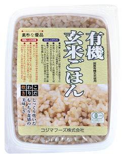 オーサワ 有機活性発芽玄米ごはん 小豆入 160g×4個            EAN: 4932828023007