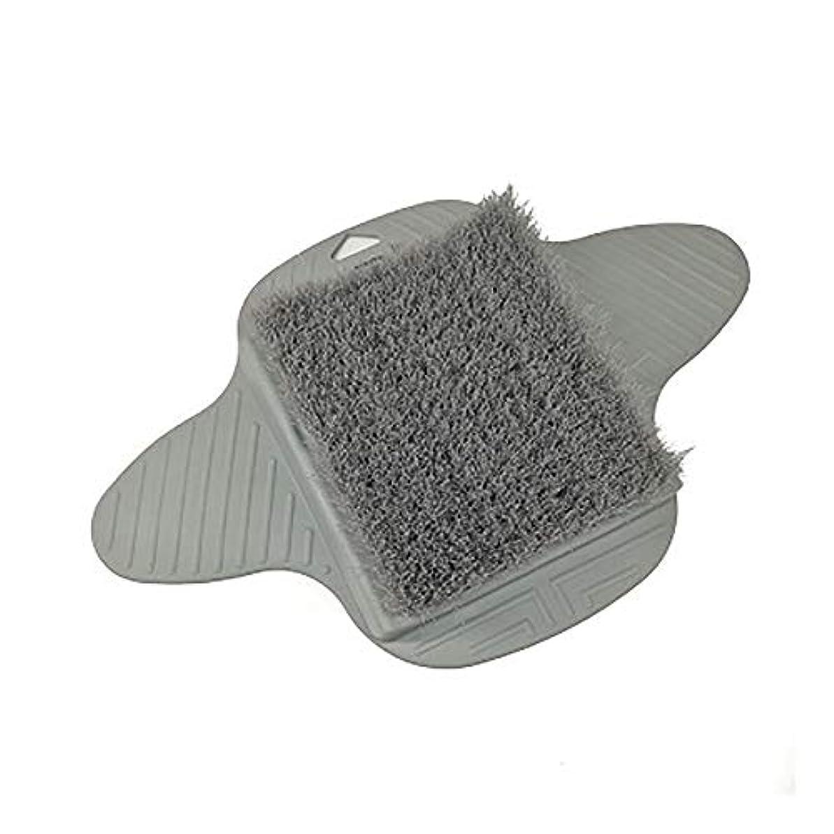 毛布断片完全に乾くフットブラシ、足をこすり、角質除去、角質除去、サクションカップ、やわらかい髪、フットマッサージブラシ、フットクリーニングツール (グレー)