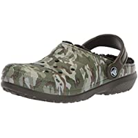 Crocs Classic Lined Graphic Clog (Toddler/Little Kid), Green Camo, 12 M US Little Kid