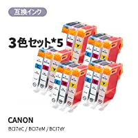 CANON キヤノンBCI-7E/3MP対応汎用インク 3色セット×5セット JAN:4580682444249