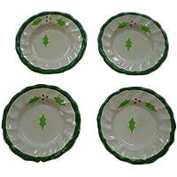 ミニチュア ドールハウス クリスマス X20 ケーキ皿(4枚)