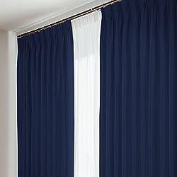 窓美人 アラカルト 1級遮光カーテン 2枚組 幅100×丈135cm ロイヤルブルー 断熱・遮熱・防音 高級フルダル生地 全12サイズ