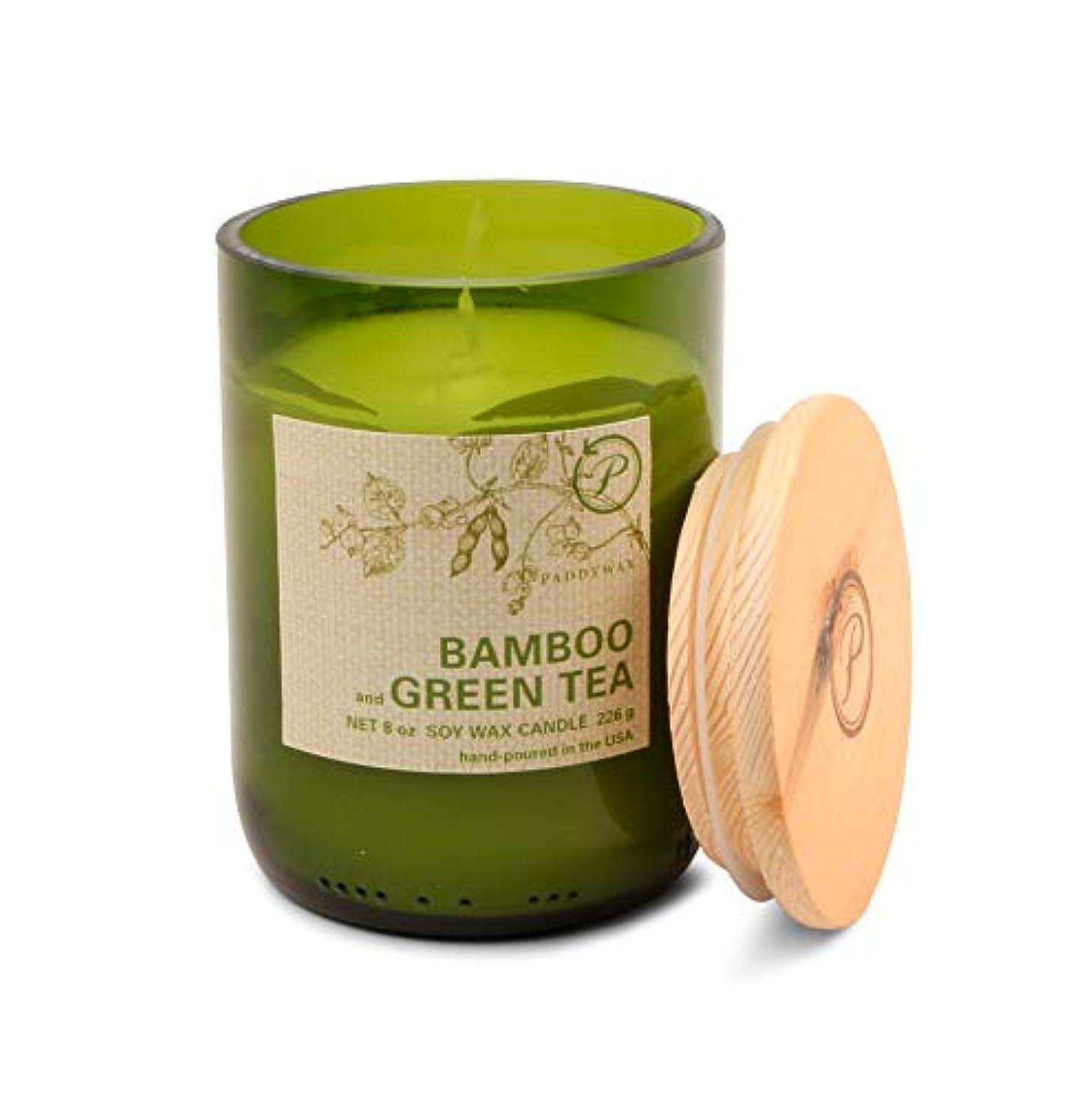リンス後ろ、背後、背面(部透けるパディワックス(PADDYWAX) エコ?グリーン キャンドル(ECO GREEN Candle) バンブー & グリーンティー(BAMBOO and GREEN TEA)