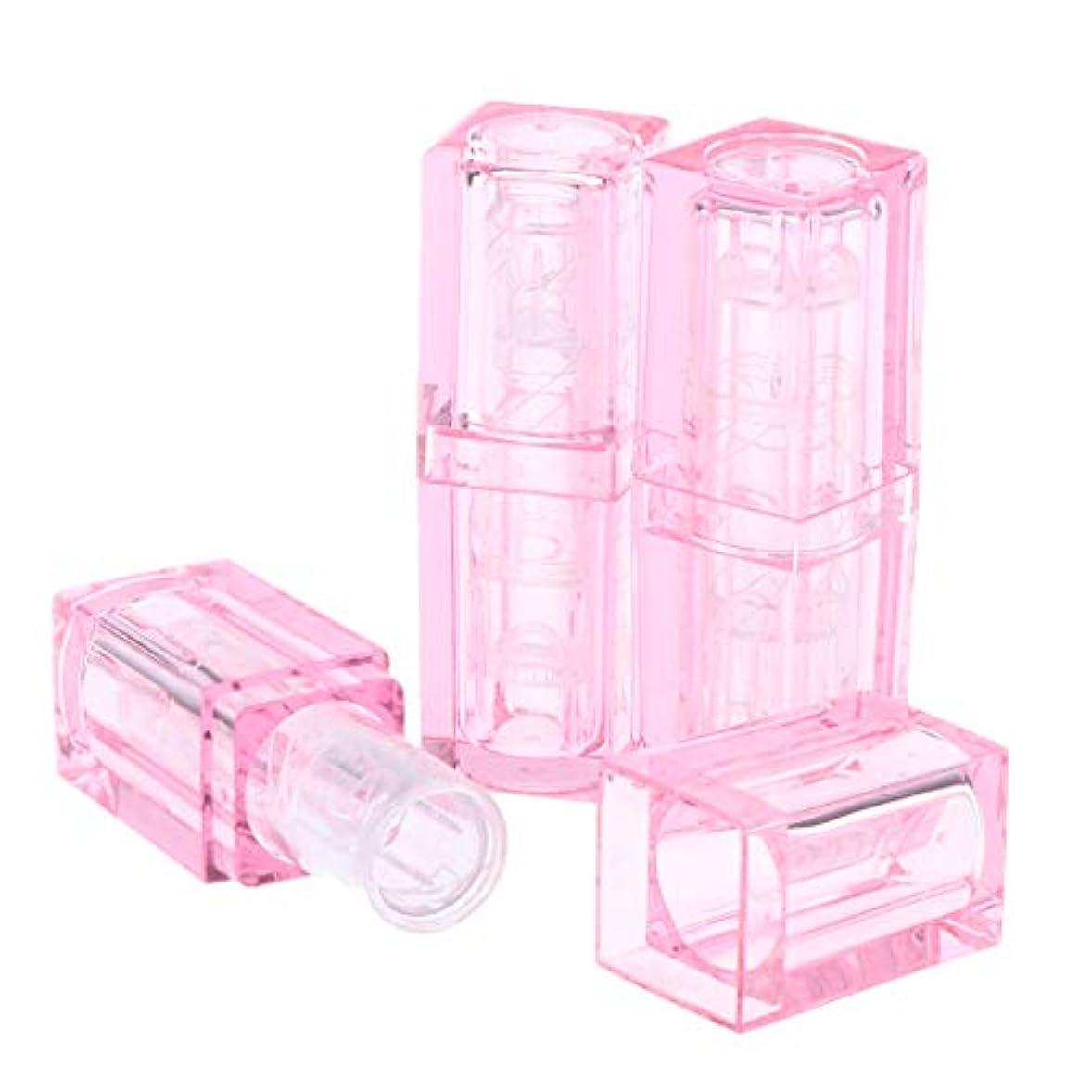 州レプリカ困惑した口紅チュ??ーブ リップバームチューブ クリア リップクリームチューブ 口紅ボトル 2色選べ - ピンク