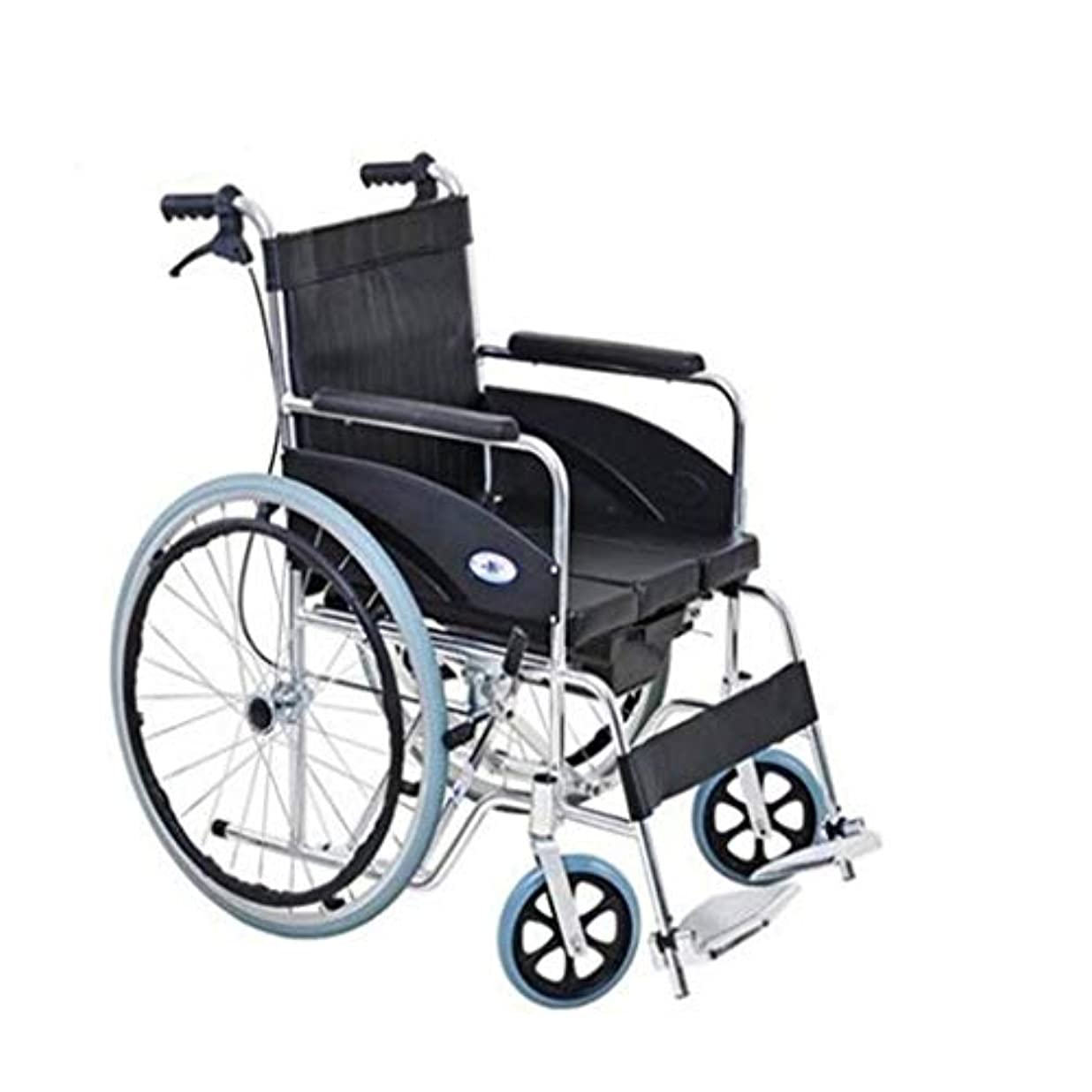ベスト配送選択車椅子トロリー多機能安全ブレーキ、折りたたみ式軽量アルミニウム合金、高齢者障害者用屋外プッシュ車椅子