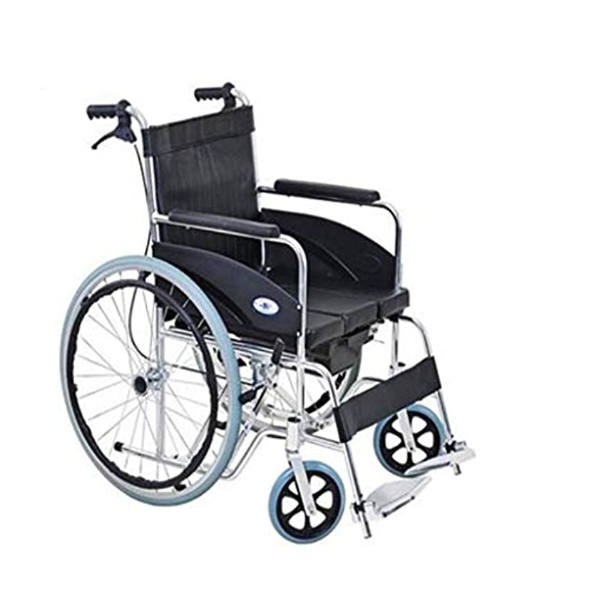 薬不毛の全部車椅子トロリー多機能安全ブレーキ、折りたたみ式軽量アルミニウム合金、高齢者障害者用屋外プッシュ車椅子