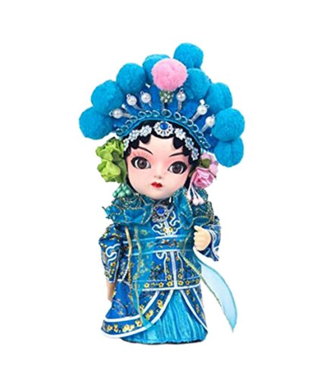 ゴージャスな緑のスネーククラフト中国北京オペラ人形の装飾