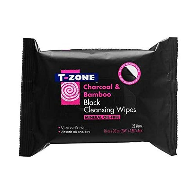 反射毒液ペース[T-zone] Tゾーン木炭&竹ブラッククレンジング25Sを払拭します - T-Zone Charcoal & Bamboo Black Cleansing Wipes 25s [並行輸入品]