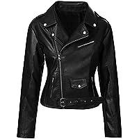 AKMAK Riverdale Southside Serpents Jughead Jones Women's Faux Leather Biker Jacket Black