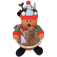 Masyzz 保管バスケット クリスマス飾り  収納バケツ スナックバスケット 家庭用品 クリスマス収納バスケット キャンディー お菓子 収納 飾り 道具