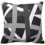Emvency Throw Pillow Cover Gray Black Stripes Design Retro Decorative Pillow Case Striped Home Decor Square 18x18 Inch Cushio