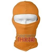 それによってがthorsdayであるodinを感謝していして下さい_文字_軽いワイシャツを着色して_tシャツ 女性と男性の屋外スポーツの水分発散のための紫外線保護フルフェイスマスク