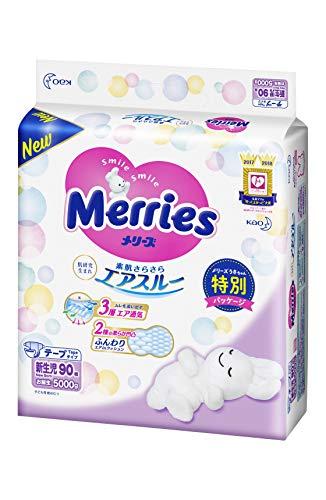 【テープ 新生児用】メリーズさらさらエアスルー (お誕生~5...