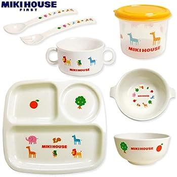 ミキハウス プチアニマル☆ベビー食器セット 44-7060-350 出産祝い/内祝い ミキハウスラッピングver