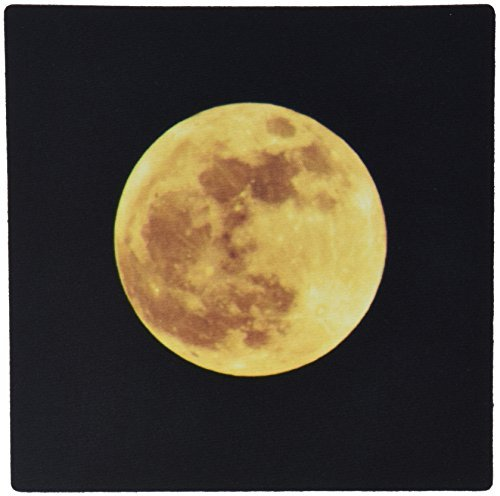 3dRose LLC 8 x 8 x 0.25 Inches Full Moon Rising Astronomy Photography Mouse Pad (mp_57179_1) [並行輸入品]