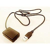SONY NP-FW50 USB電源アダプタ 軽量 ソニー NEX α 用 1.0m モバイルバッテリー対応 BCCS10