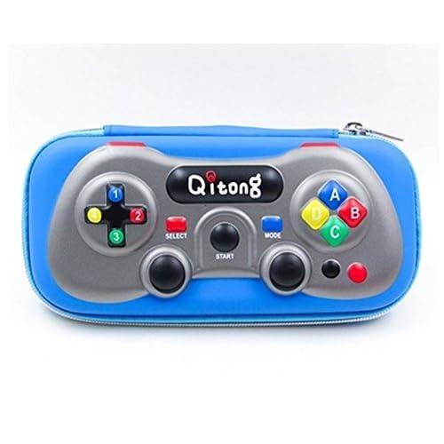 [ MT On&Do ] ペンケース 筆箱 ペン入れ ゲーム型 ユニーク おもしろ 個性 被らない 唯一 筆記用具 収納 メンズ ゲーム好き (ブルー)