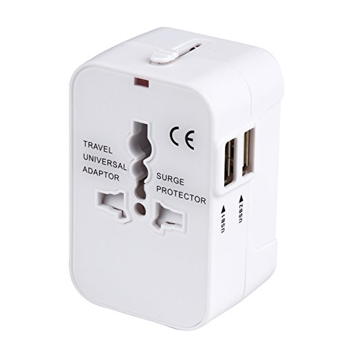 海外安全旅行充電器 コンパクトな コンセント 2USBポート...