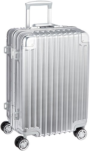 [トライデント] スーツケース ハードフレームケース アルミ調 シフレ 1年保証 保証付 51L 52cm 4.4kg TRI1030-52 シルバー シルバー