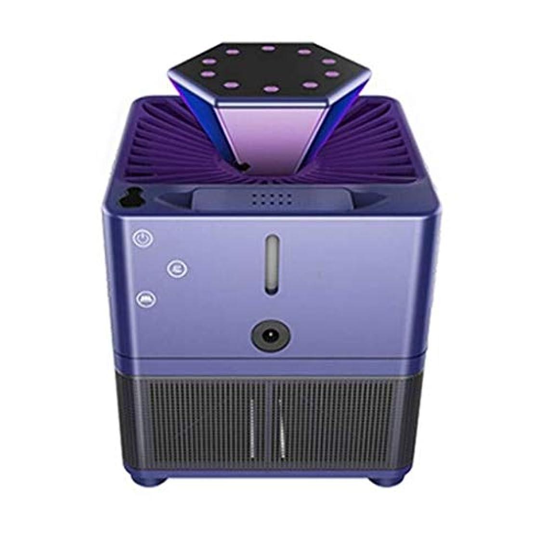 LED蚊キラープラグインランプ寝室ホーム屋内サイレントキャプチャドライブ防蚊 (Color : 紫の)