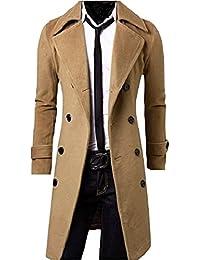 Orange Ananas(オレンジアナナス)メンズファッション シンプル シック トレンチ ロング コート 上着 無地 長袖 アウター 大きいサイズ も M ~ XL 大人 男性用 P-005