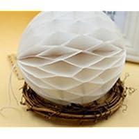 ychoice Lovely赤ちゃんおもちゃギフトHoneycomb Balls Tissue Paper pom-pomsペーパーボールfor掛け装飾ベビーシャワー誕生日デコレーションホワイト