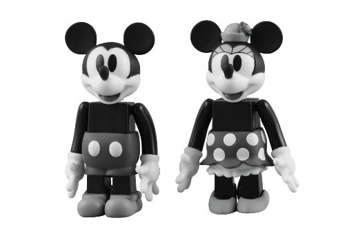 KUBRICK MICKEY MOUSE & MINNIE MOUSE (BLACK & WHITE ver.)(ABS&PVC塗装済みアクションフィギュア)