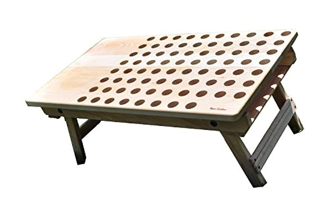 良性上記の頭と肩バランスのとれたPunched  Wood Table(ウッドキャンプテーブル)