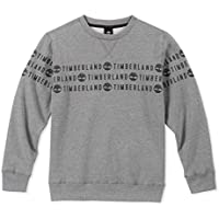 Timberland Boys' Big Long Sleeve Signature Logo Crew Neck Fleece
