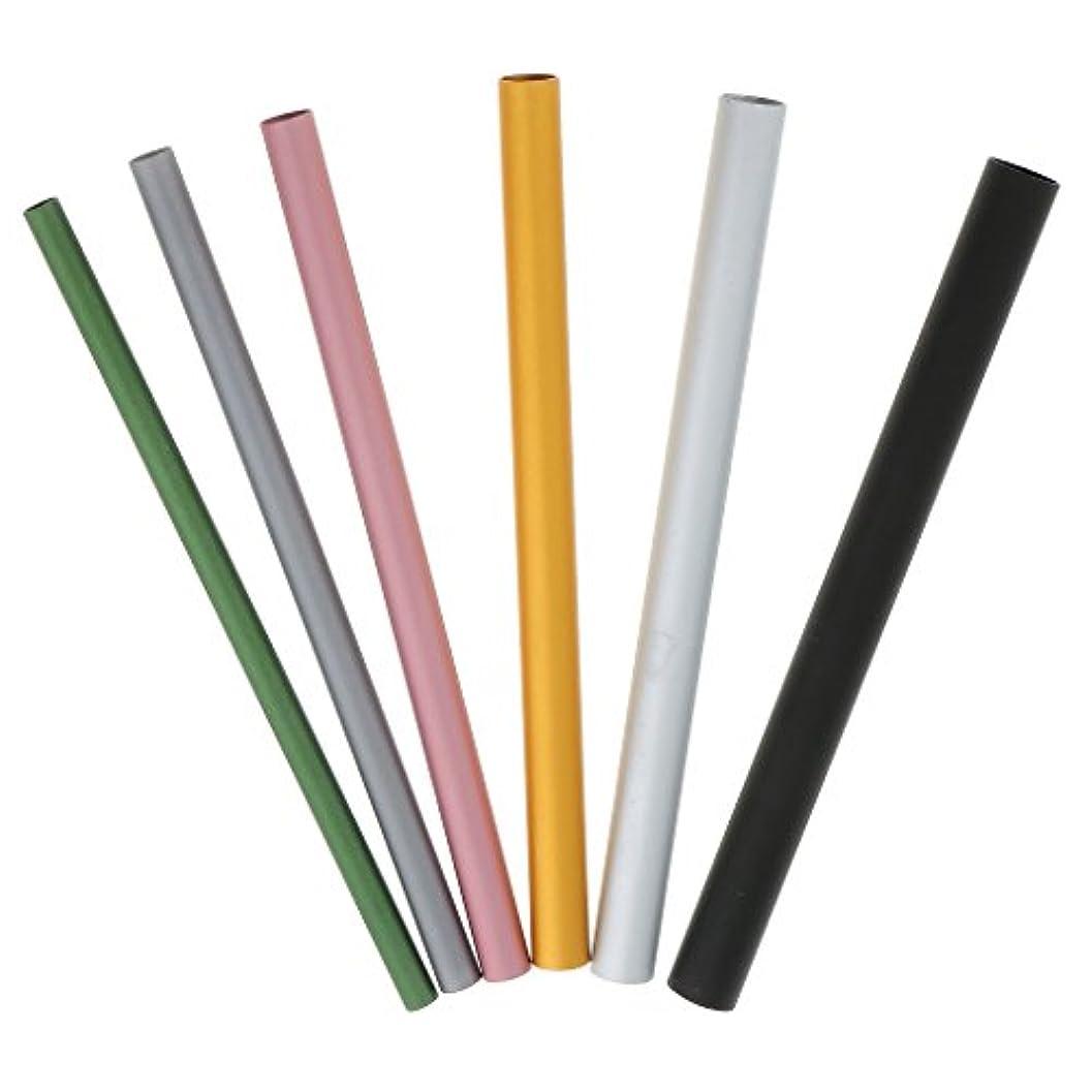 責任遅い書道Sharplace 6本 ミックスサイズ Cカーブ ネイルアート アルミ棒 ネイル道具