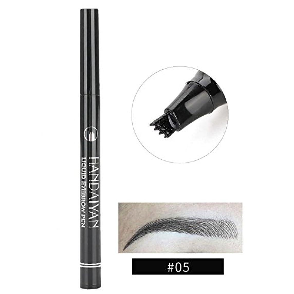 例示するめんどり興奮する防水眉ペン、液体 長持ち 液体眉毛タトゥーペン 眉毛エンハンサー メイクアップペン(5)