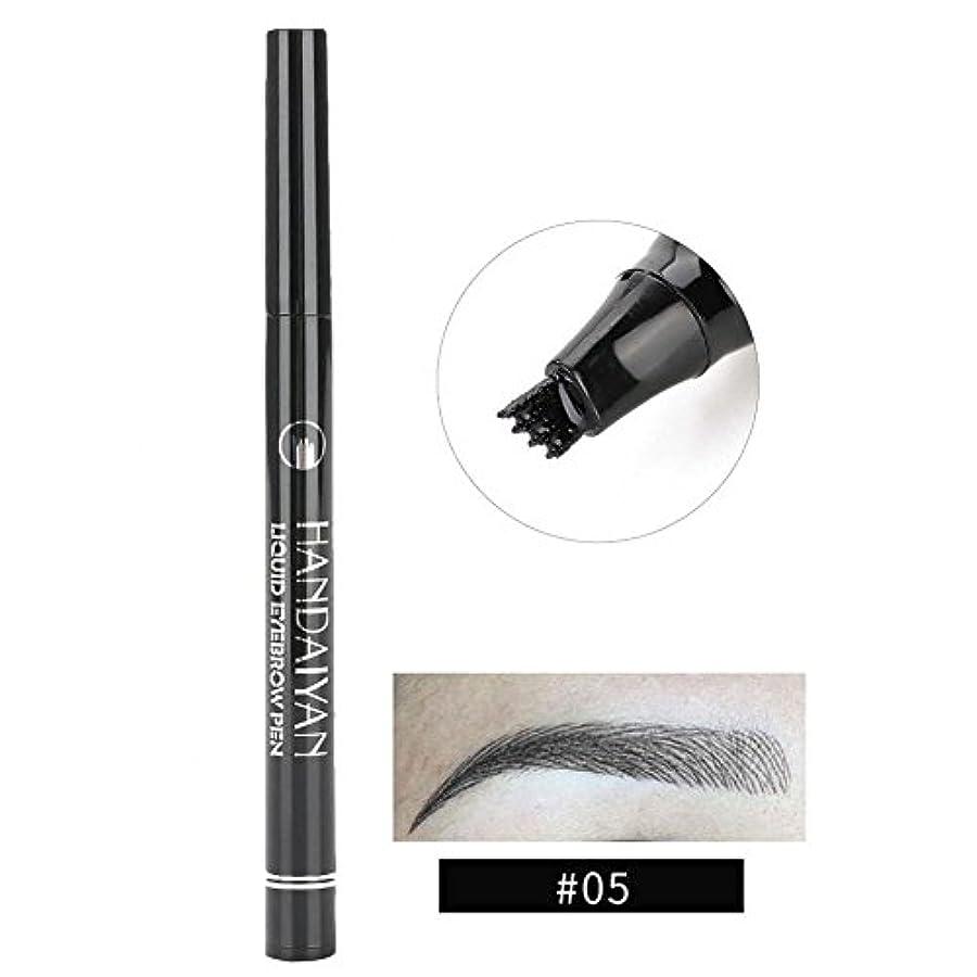 固有の規制ベスビオ山防水眉ペン、液体 長持ち 液体眉毛タトゥーペン 眉毛エンハンサー メイクアップペン(5)
