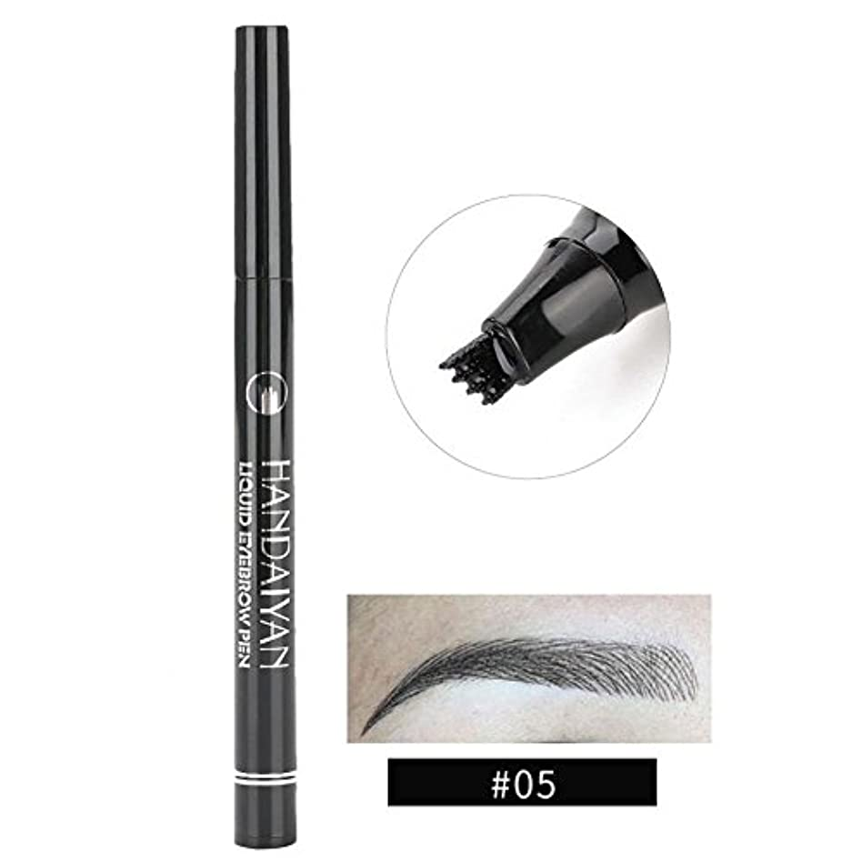 地下室時系列南方の防水眉ペン、液体 長持ち 液体眉毛タトゥーペン 眉毛エンハンサー メイクアップペン(5)