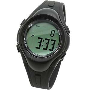 [ラドウェザー]腕時計 パソコン/PCでデータ管理 歩数/走行距離/消費カロリー/運動時間 ジム/ジョギング/ウォーキング 時計 ブラック bk