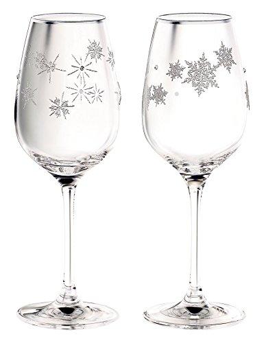 NARUMI(ナルミ) グラスワークス スノー&スター ワイングラスペア 340cc GW4065-63393A