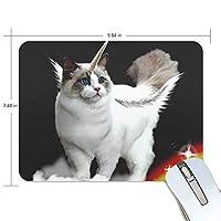 マウスパッド おもしろの猫 ユニコーン 疲労低減 ゲーミングマウスパッド 9 X 25 厚い 耐久性が良い 滑り止めゴム底 滑りやすい表面