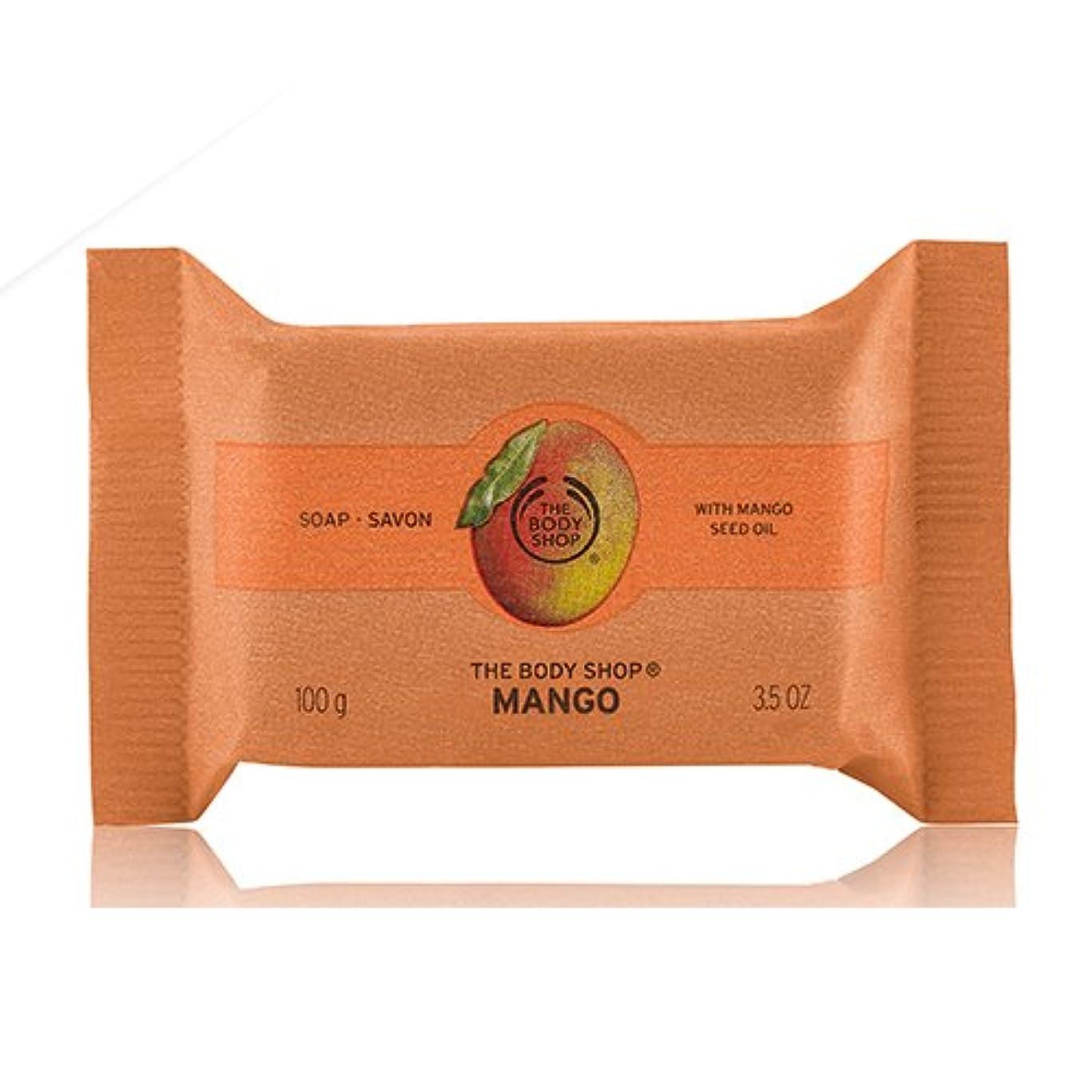 市場打ち上げる解放THE BODY SHOP ザ?ボディショップ ソープ マンゴー 標準重量100g【正規品】